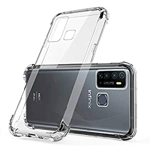 Infinix Hot 9 | Shockproof Flexible Protective TPU Bumper Back Case Cover for Infinix hot 9 – Transparent