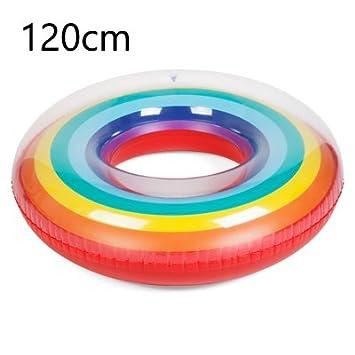 Amazon.com: Veslagy Gigante arco iris flotador inflable ...