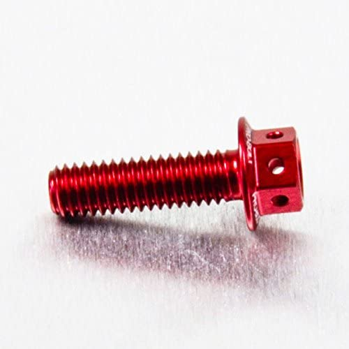 Aluminium Race Spec M6 x 1.00mm x 20mm Red Etched