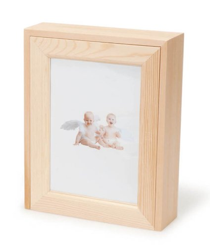 Amazon.com - Darice 9182-58 Pinewood Box with Picture Frame, 8-3/4 ...