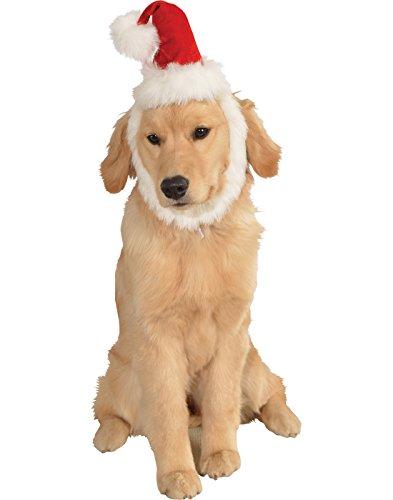 Santa's Helper Dog Costume (Rubie's Christmas Pet Costume, Medium to Large, Santa Claus Hat and Beard)