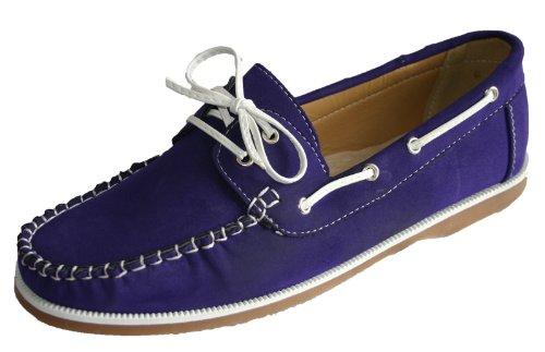 Damen-Kühler Faux Nubukleder-Müßiggänger-Schnürschuhe Schiffsdeck Schuhe Größen 37-41