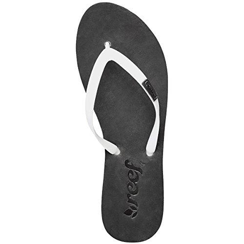 Reef Womens Paseo Sandal/Flip Flops/Slipper Footwear, Black/White, Size 6