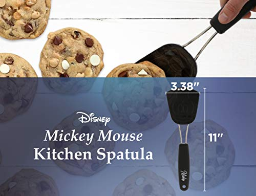Mouse Silicone Turner – This Mickey Mouse Disney Spatula is Ideal for Turning Food – Perfect for any Disney Fan – Black, Measures 11 Inches (Black - Mickey Mouse)