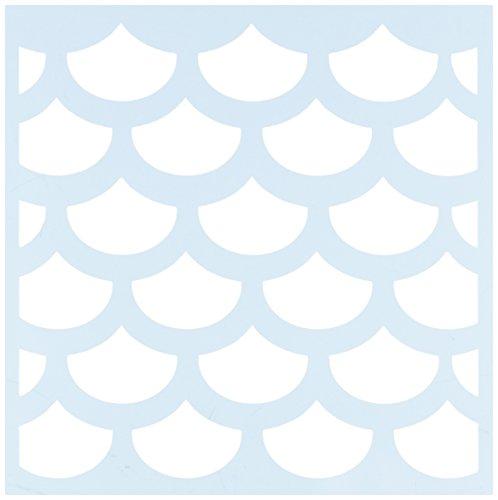 Fish Scale Makeup (Clear Scraps CSSM6-FSHSC Translucent Plastic Film Stencil, Fish Scales, 6-Inch x)