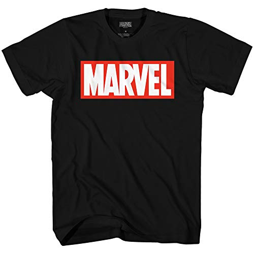 Marvel Men's Comics Simple Classic Logo T-Shirt, Black, Medium