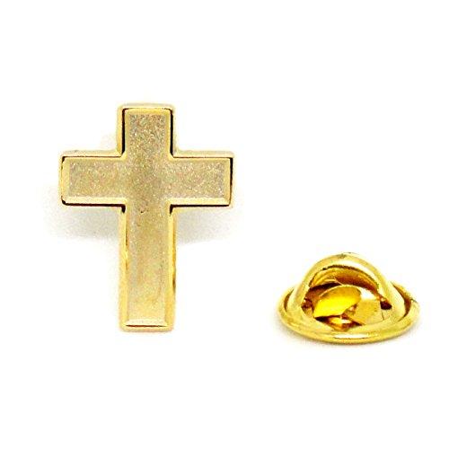 Chaplain Gold Finish Cross - Religious Christian Latin Ornate Official Lapel Pin