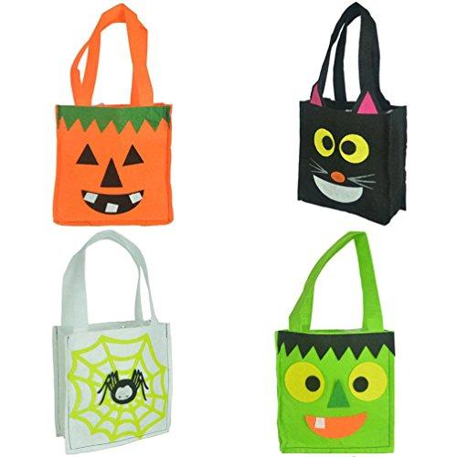 Halloween Bat Bag Devil Bag Kids Candy Handbag Bucket Treat or (Apple Halloween Bucket)