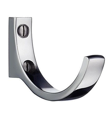 Beslagsboden Single Coat Hook Finish / Type: Polished Chrome / Triple Hook