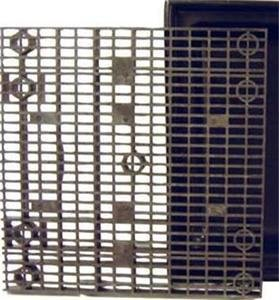 36 Inch x 36 Inch Heavy Duty Fountain Basin Grate - For Pond and Water Garden Features and More - Hides Reservoirs - Holds Bubblers, Rocks, Other Decorations - Will Not Rust - Black - Can Be Cut