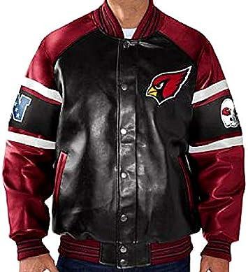 Amazon.com: Arizona Cardinals Piel Sintética chamarra ...