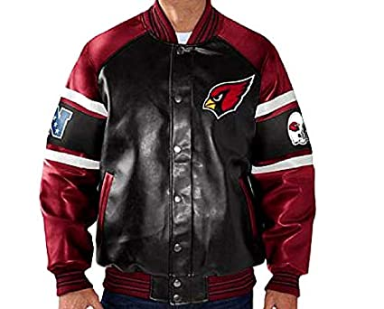 46dd68cff Arizona Cardinals Faux Leather Jacket NFL Cardinals Pleather Coat asst  Sizes (M)