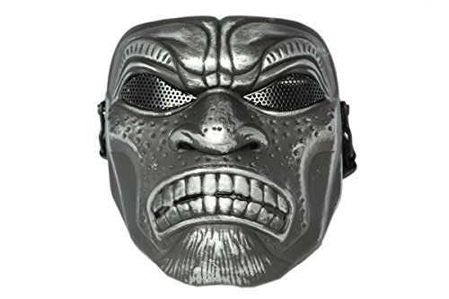 Softair Protektor Maske Samurai (brushed metal)