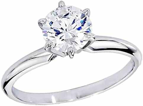 7de27859d Dazzlingrock Collection IGI Certified 1.18 Carat (ctw) 14K Real Round  Diamond Ladies Engagement Solitaire