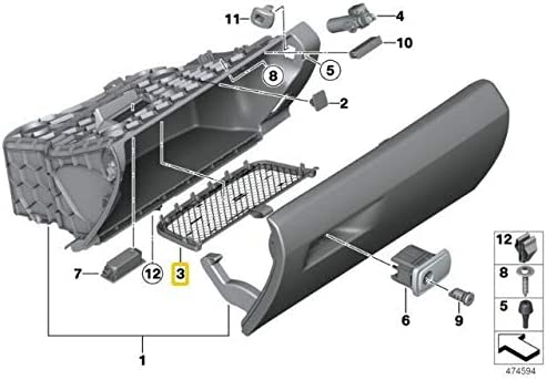 New OEM F15 F16 F30 F31 F32 F33 Glove Compartment Storage Net 9248396