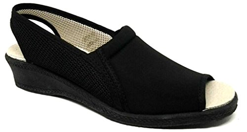 DAVEMA , Damen Sandalen schwarz schwarz 37