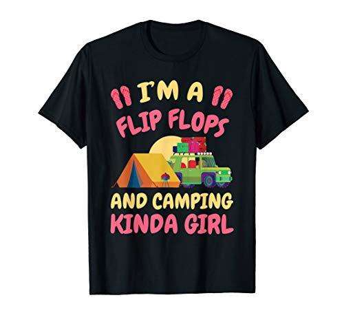 Funny Flip Flop and Camping kinda Girl Camp Camper -