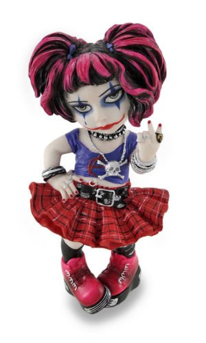 6 Inch Cosplay Kids Punk Girl Gothic Decor Statue Figurine Figure Skull by Verones]()