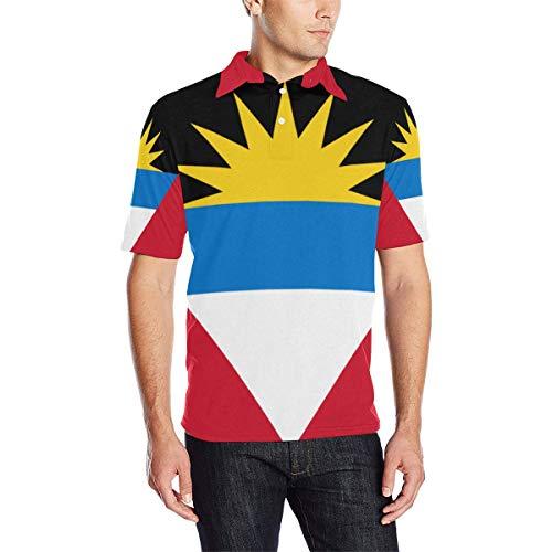 Antigua and Barbuda Flag Men's Polo Shirt ()