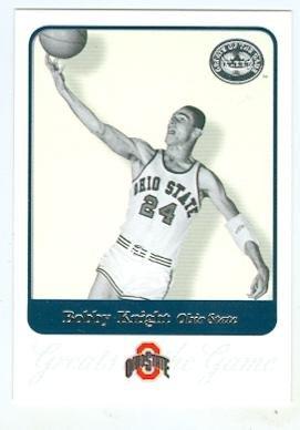 Bobby Knight basketball card (Ohio State Baketball) 2001 Fleer Greats #10