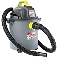 Craftsman Evolv 5 Gallon 3 Peak Hp Wet or Dry Vacuum Horsepower Wall Mount