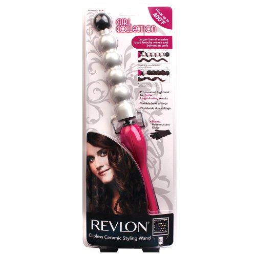 Amazon.com: Revlon Curl Collection Bubble Curling Wand with ...