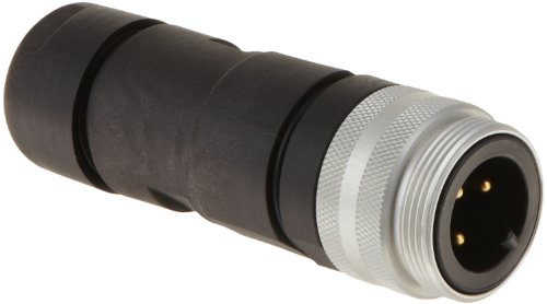 Brad CA3006-39 Power Trunk/Feeder Field Attachable Connector, Male Straight, 3 Pole, 30.0A Max Current Rating, 600V AC/DC Max Voltage, External Thread Coupling