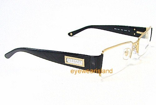 a5ef583ea1 Amazon.com  VERSACE Eyeglasses VE 1140 1002 Gold 51MM  Health   Personal  Care