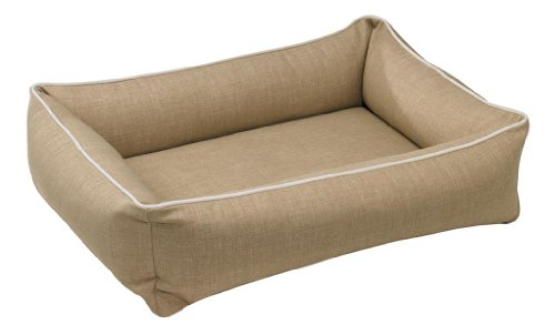 Bowsers Urban Lounger Dog Bed, Large, Flax by Bowsers