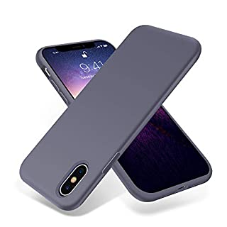 OTOFLY iPhone Xs Max Case,Ultra Slim Fit iPhone Case Liquid Silicone Gel Cover with Full Body Protection Anti-Scratch Shockproof Case Compatible with iPhone Xs Max, [Upgraded Version] (Lavender)