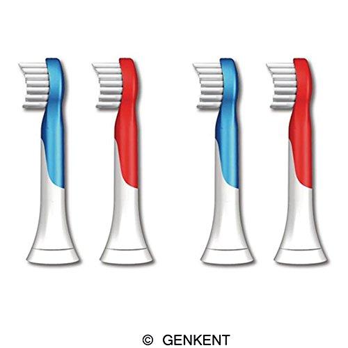 Cabezales de recambio Genkent para Sonicare Hx6034 de Philips Sonicare para niños cepillo cabezas, edades 4-7, 8 piezas