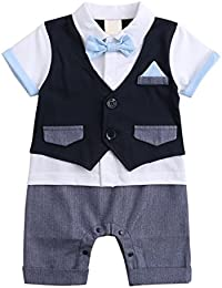 Baby Boys Outfits, Toddler Short Sleeve Romper Clothing...