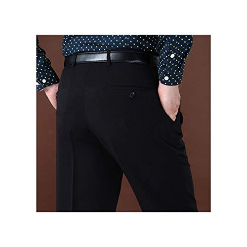 Men Suit Pants Classic raight Loose Busis Office Wool Suit Pants Summer Plus Size 42 44,368 Black,32