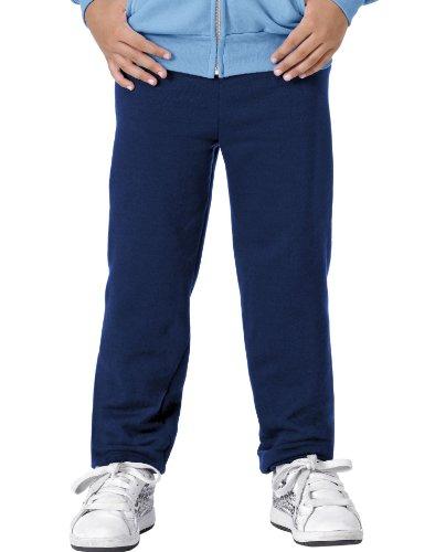 Hanes Youth COMFORTBLEND EcoSmart Fleece Pant,Navy,Small