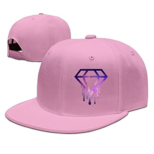 SSEE Unisex Dripping Diamond Casual Baseball Hats Caps Pink