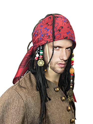 Exact Wig w/Bandana Dreadlock DLX Jack Sparrow -