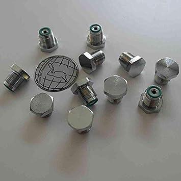 hdt Blindstopfen mit Entl/üftung f/ür Druckluft G5//8 mit O-Ring druckstabil bis 300bar