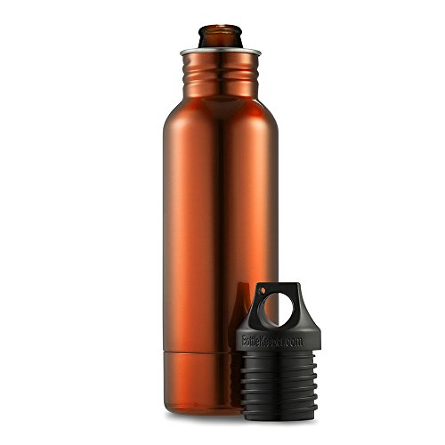 BottleKeeper OR01 1.0 The Original Stainless Steel Bottle Holder and Insulator to Keep Your Beer Colder, 12 oz, Orange (Take My Hand To The Promised Land)