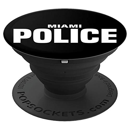 Miami Police Officer Florida Policeman Thin Blue Line - PopSockets Grip and Stand for Phones and Tablets -