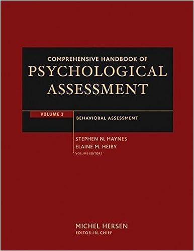Amazon 003 comprehensive handbook of psychological assessment 003 comprehensive handbook of psychological assessment volume 3 behavioral assessment 1st edition fandeluxe Images