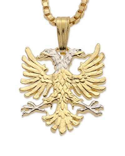 The Difference World Coin Jewelry Albanian Eagle Pendant and Necklace