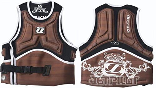 Jet Pilot Falcon Impact Comp Vest Brown Mens Large PFD Waterski Wakeboard Life Jacket