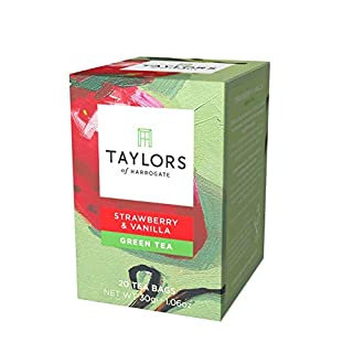 Taylors of Harrogate Strawberry & Vanilla Green Tea, 20 Count (Pack of 1)