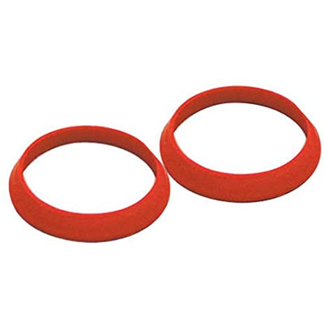 Keeney 50918K Rubber Slip Joint Washers, Red, 1-1/2-Inch - Pipe ...