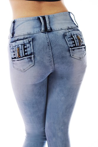 ZARINA®1706 Denim pantalones, vaqueros de mujer, Push up/Levanta cola, pantalones vaqueros elasticos colombian,color azul ,talla 34-48/XS-3XL