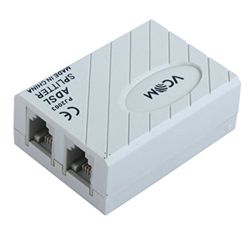 Modem Filter (Uxcell Telephone ADSL Modem 6P2C RJ11 Splitter Filter for Landline Telephone)