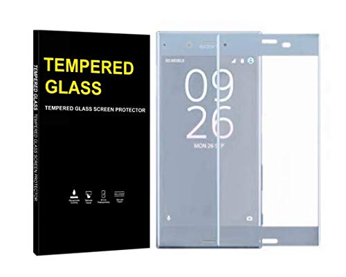 Jaorty for Sony Xperia XZ/XZS Full Cover Soft Edge Screen Protector,Full Coverage Tempered Glass 3D Round Edge 9H Hardness Anti-Scratch HD Clear Easy Installation (1 Pack,Light Blue)