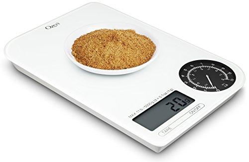 Ozeri ZK18-WB Rev Digital Kitchen Weight White