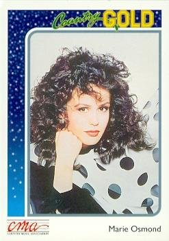 Marie Osmond trading card (Country Music) 1992 Sterling Country Gold #32