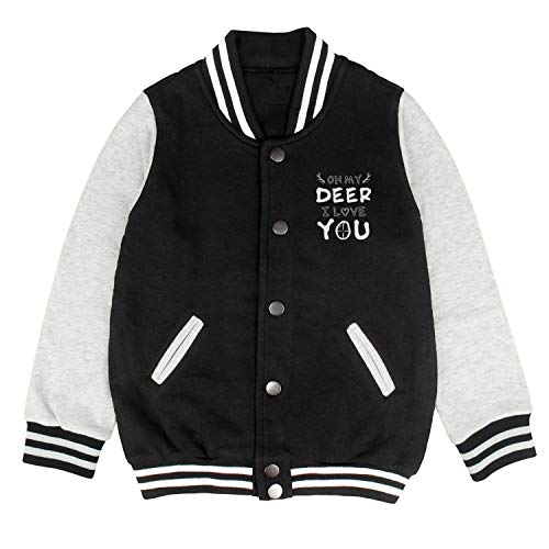 Oh My Deer I Love You Awesome Custom Cotton Crazy Baseball Jacket for -